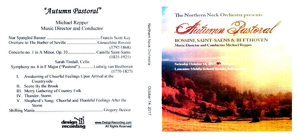 Autumn Pastoral CD - October 14, 2017, NNO Concert