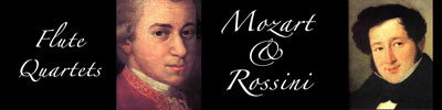 Flute Quartets by Mozart and Rossini - BENEFIT CONCERT - Thursday, February 22, 2018, at 7 p.m., at Good Luck Cellars, Kilmarnock