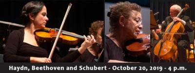 Haydn, Beethoven and Schubert Chamber Concert - Sunday, October 20, 2019, at 4 p.m., at Good Luck Cellars, 1025 Goodluck Road, Kilmarnock